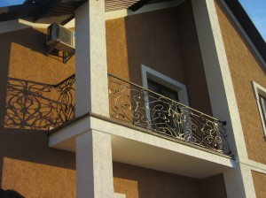 кованый балкон купить Киев, красивый кованый балкон, кузнечная работа Киев